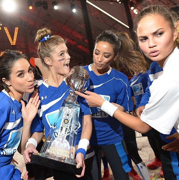 Meghan and Chrissy worked together again in 2014 on DirecTV's Beach Bowl.