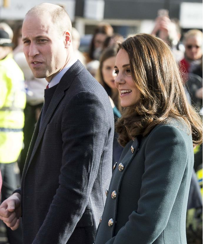 Kate and Wills began their visit to Sunderland with a quick walkabout.