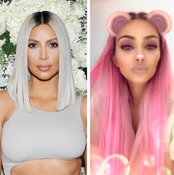 "Pink hair, don't care! Reality TV superstar Kim Kardashian dyed her hair the colour of the moment, millennial pink. The mum-of-three took to Instagram to debut her candy-hued locks to her dedicated fans after announcing on Twitter that she was tired of her current look: ""I can't even tell you how over my blonde hair I am!"""