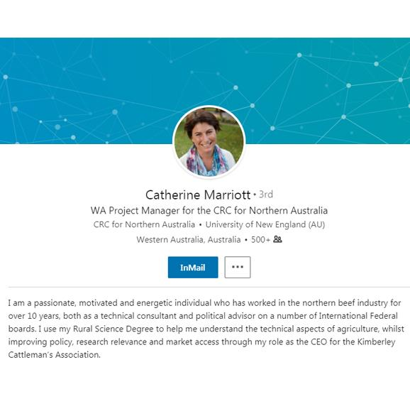 Catherine Marriott's LinkedIn profile.