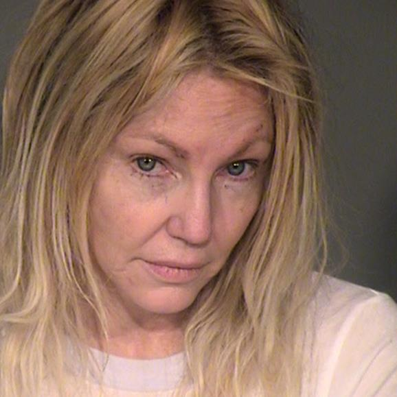 Heather Locklear's booking photo released by the Ventura County Sheriffs Office. Police were called to the actress' home after reports of a domestic battery.