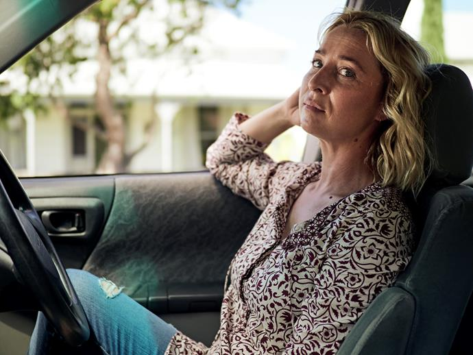 Asher Keddie on the set of *The Cry*.