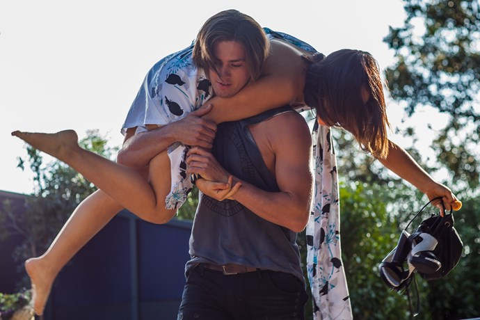 **Tyler arrives, 2015:** He made his entrance like a knight in shining armour. Tyler (Travis Burns) rode into town on his motorbike and found Imogen (Ariel Kaplan) drunk at a uni party. Seeing her in distress Tyler carried her to his motorbike and dropped her off at her home in Ramsay Street.