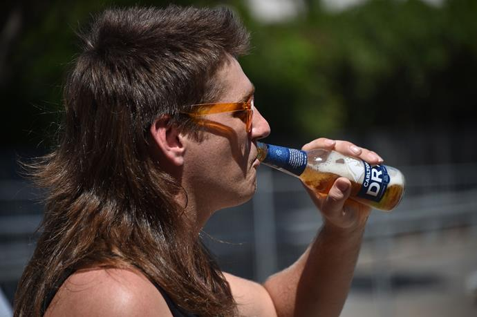 Mullet-ing makes for thirsty work!