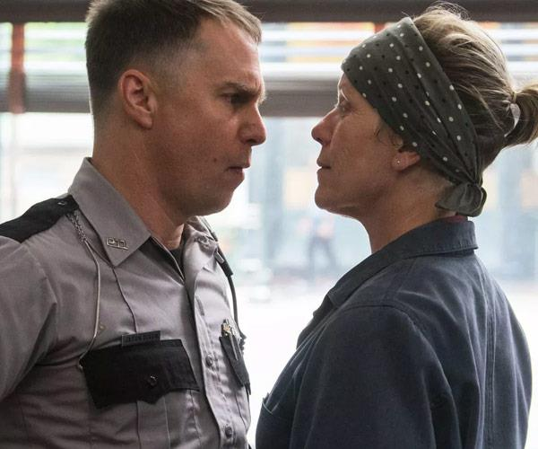 Sam Rockwell is nominated for his role in *Three Billboards*.