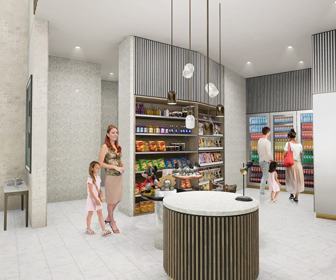 Artist's impression of Ruby Collection's shopping facilities