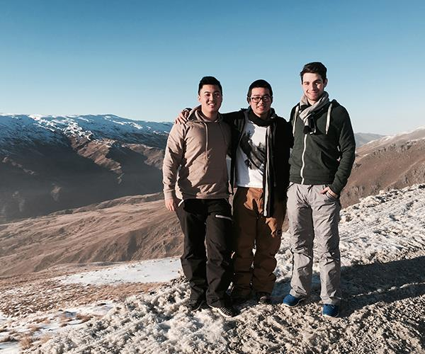 *Travel Guides* mates (from left) Teng, Kev and Dorian.