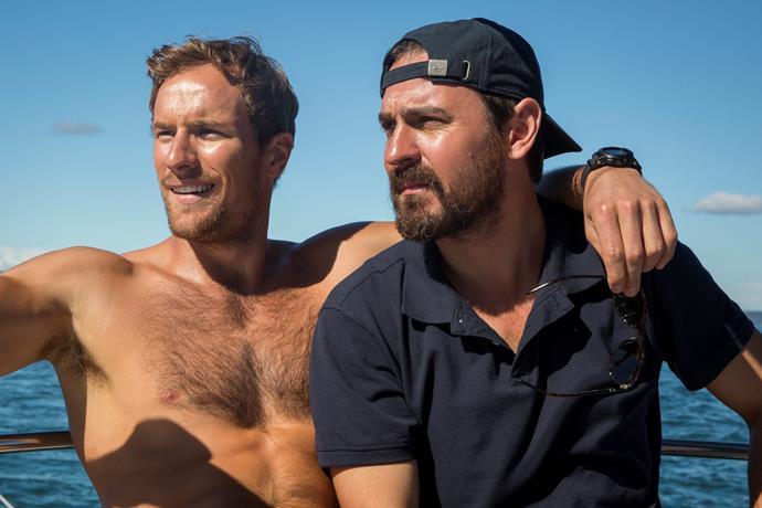 Damien (Joel Jackson) and Ryan (Ewen Leslie) face troubles on the sailing adventure.