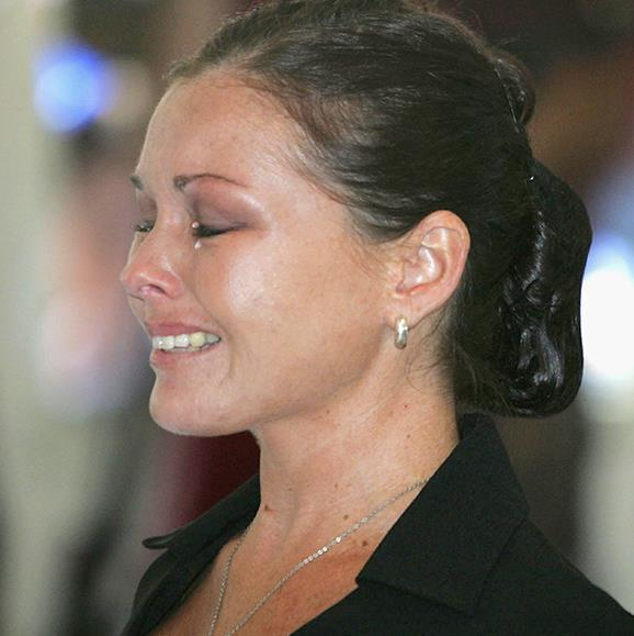 Schapelle Corby bursts into tears as she is sentenced to 20 years in jail in a Denpasar courtroom on in May, 2005.