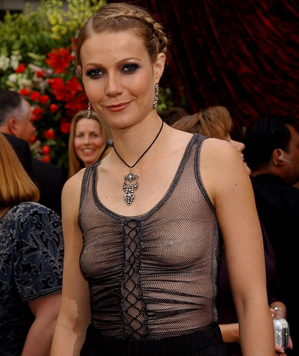 Gwyneth Paltrow's braless, Gothic look was slated by the critics.