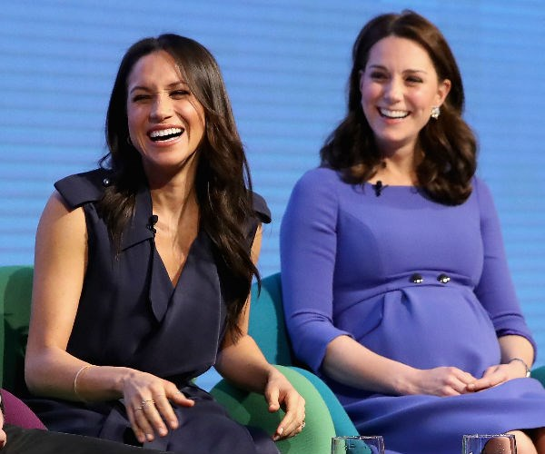 Kate and Meghan, both 36, already appeared to share a very close bond.