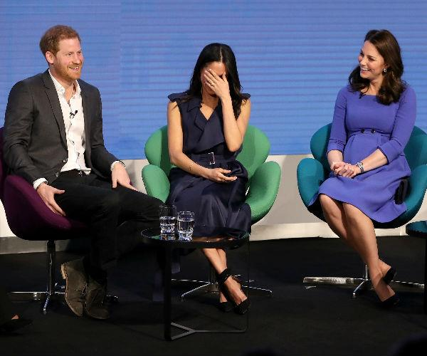 The royal foursome spoke candidly about the pros and cons of working with family -- much to the amusement of the audience!