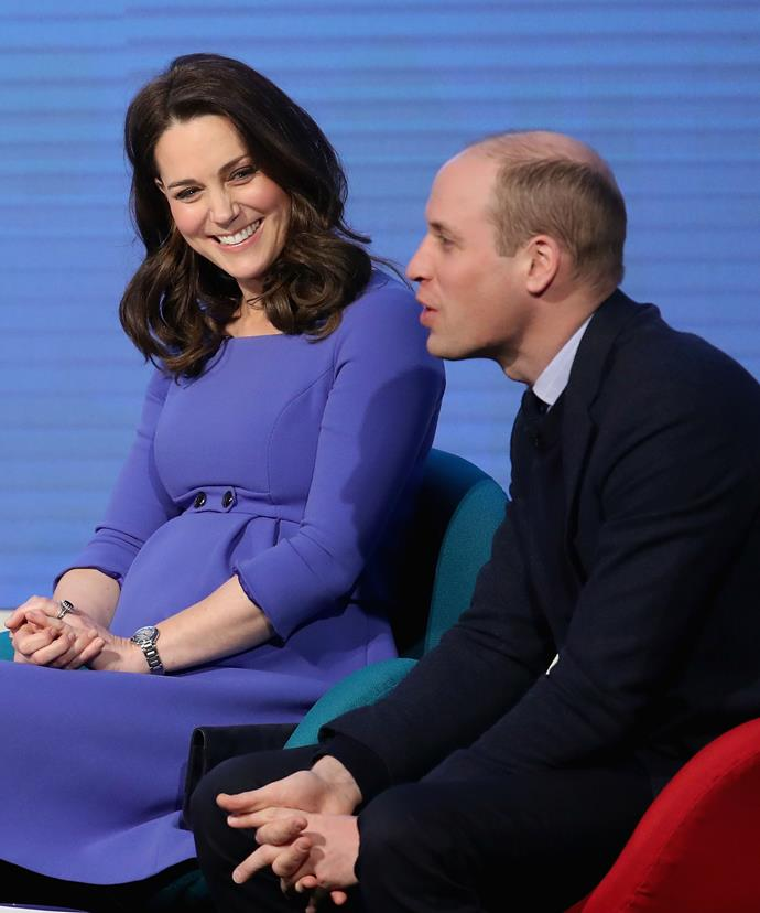 Prince William dispelled the myth that it's happy families all the time with a few light-hearted jokes.