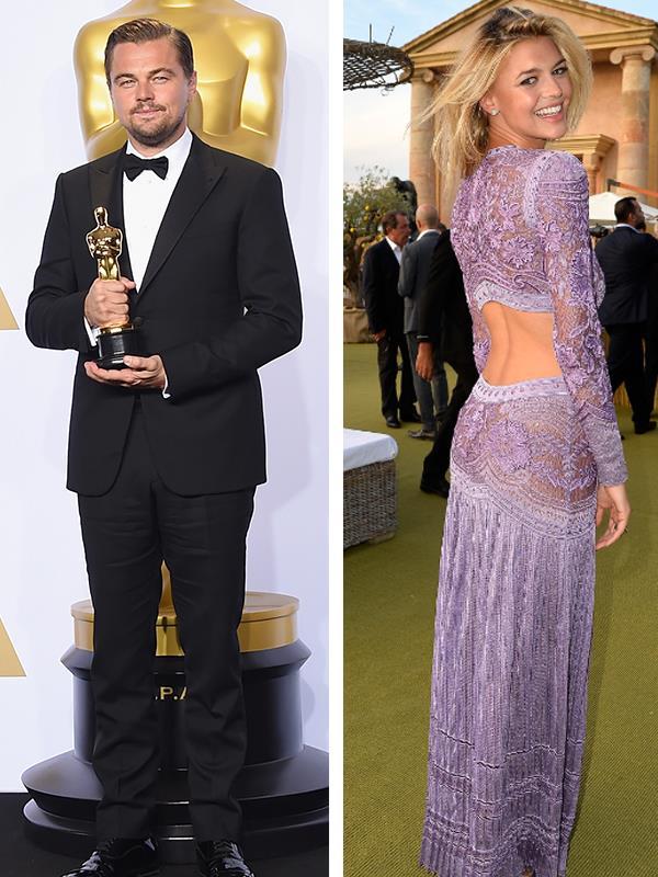 Leonardo DiCaprio and Kelly Rohrbach.
