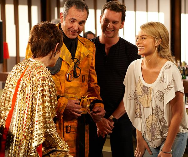 Alan and Margot on the set of *Neighbours* back in 2010.