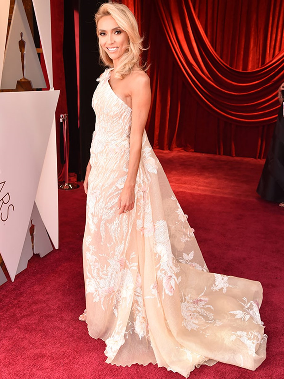 Before she anchors *E!'s* red carpet coverage, host with the most Giuliana Rancic strikes a pose.