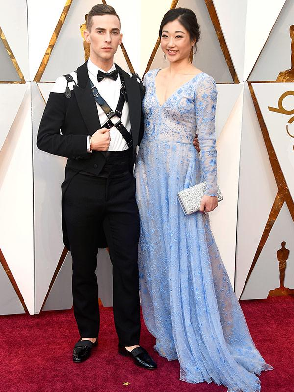 From the ice rink, to the red carpet! Figure skating heroes and Olympic gold medal winners Adam Rippon and Mirai Nagasu.