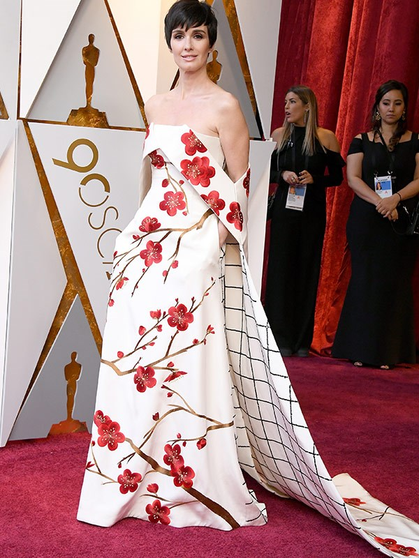 Spanish actress Paz Vega brings a pop of floral.