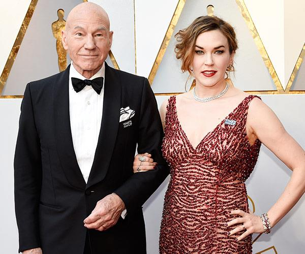 Patrick Stewart is his co-star and Sunny Ozell date for the night!