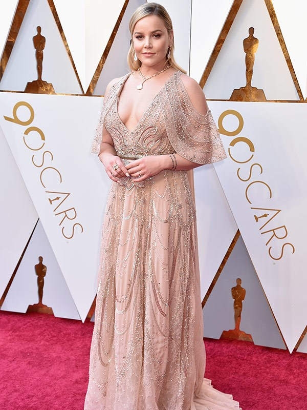And we have our first Aussie on the red carpet. A round of applause for *Three Billboards Outside Ebbing, Missouri* star Abbie Cornish.