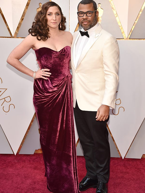 *Get Out* director Jordan Peele with his leading lady Chelsea Peretti.