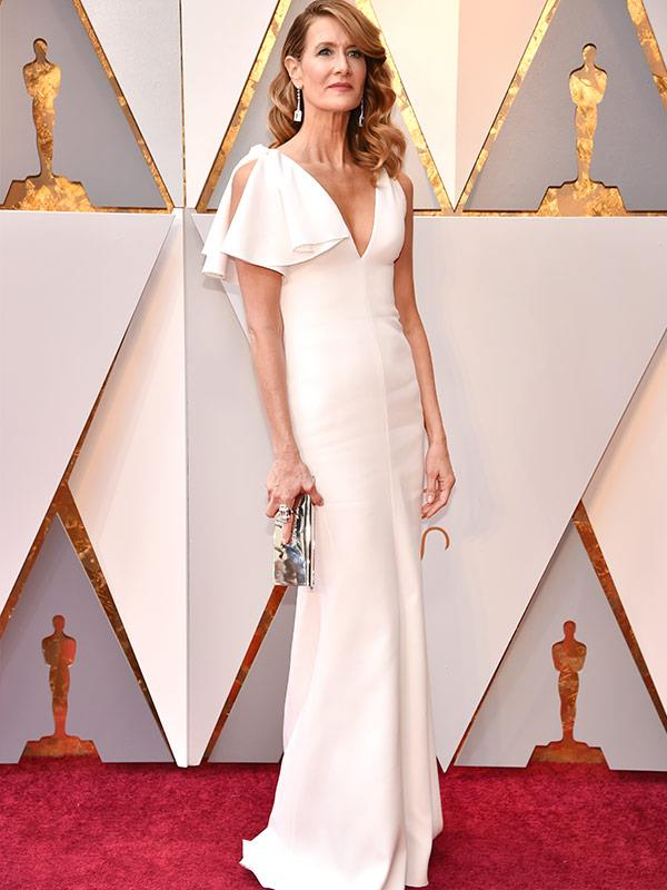 *Big Little Lies* favourite Laura Dern's elegant white ensemble gets a big tick.