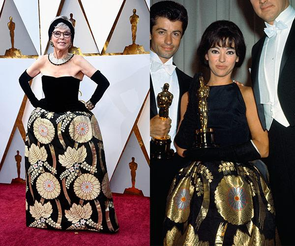 West Side Story actress, Rita Moreno wore the same dress in 1962 and here she is rocking it again more than 50 year later!