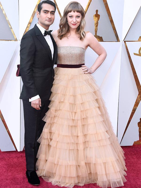 *The Big Sick* creator and actor Kumail Nanjiani with his wife Emily V. Gordon.