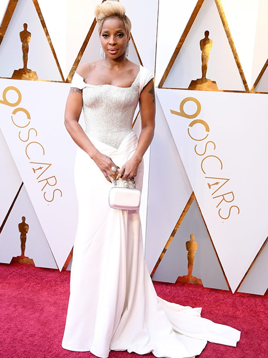Bow down! Double nominee Mary J Blige has arrived.