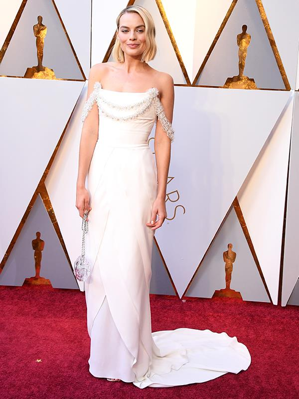 Margot stunned in a beautiful Chanel gown.