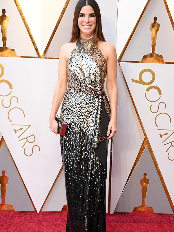 Presenter Sandra Bullock brings the shimmer and shine!