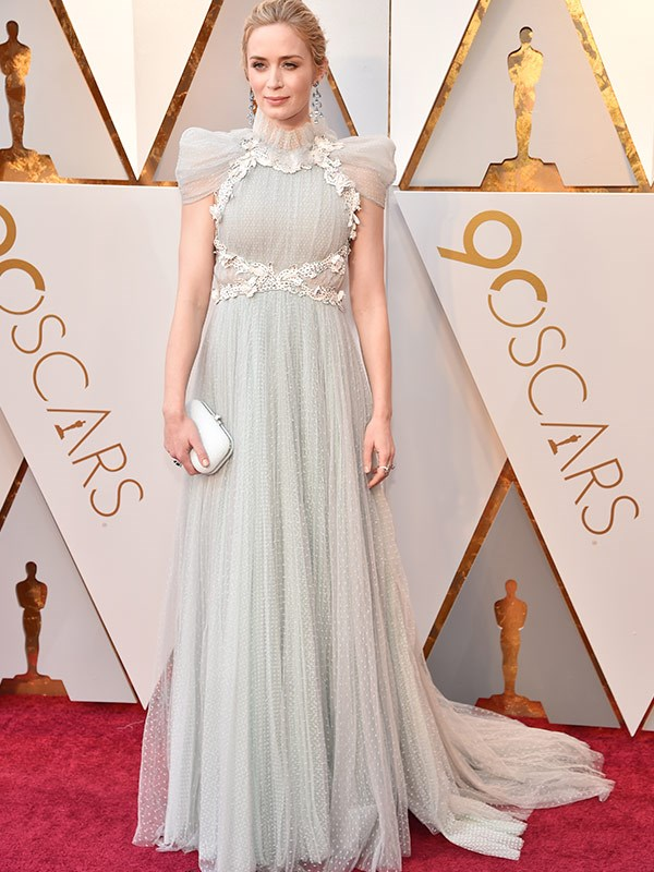 Emily Blunt cuts an ethereal figure.