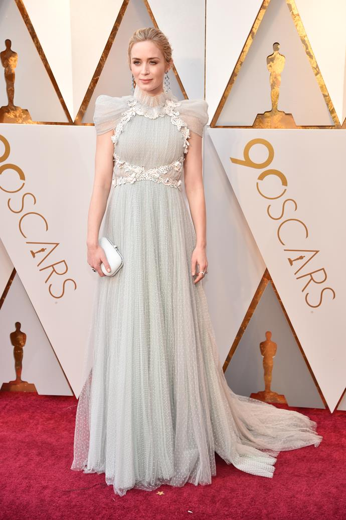Look, we love Emily Blunt but this strange and busy dress lands her directly on the wacky list.