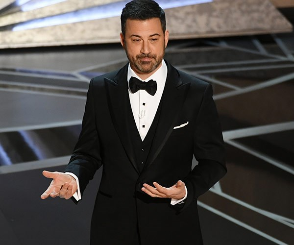 Host Jimmy Kimmel wasting no time ripping shreds off Harvey Weinstein.