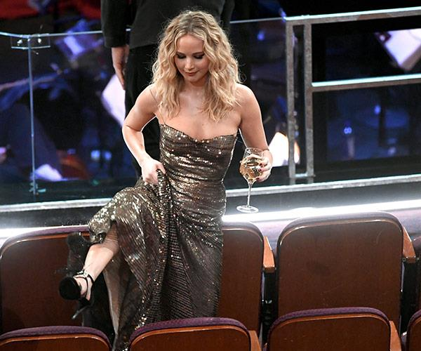Wine in hand, Jennifer Lawrence is living her best life.