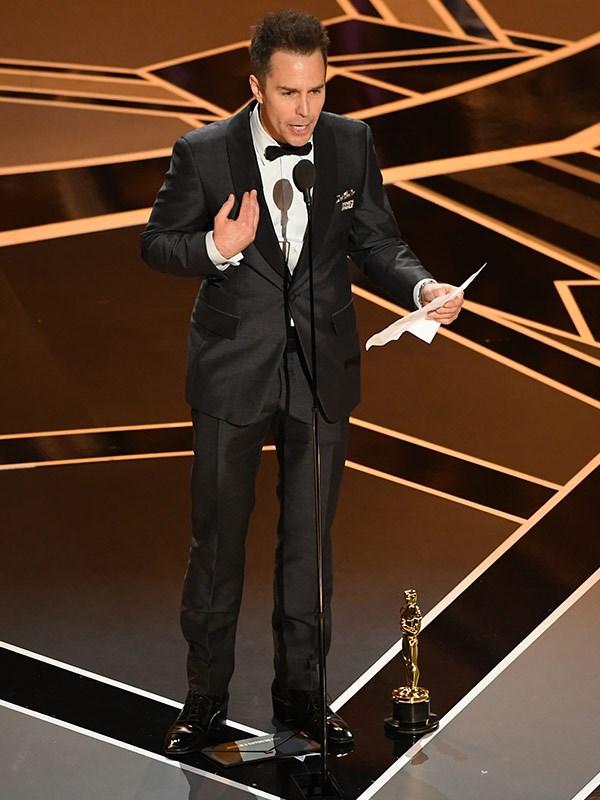 "Sam dedicated his award to ""my old buddy Phil Hoffman!"""