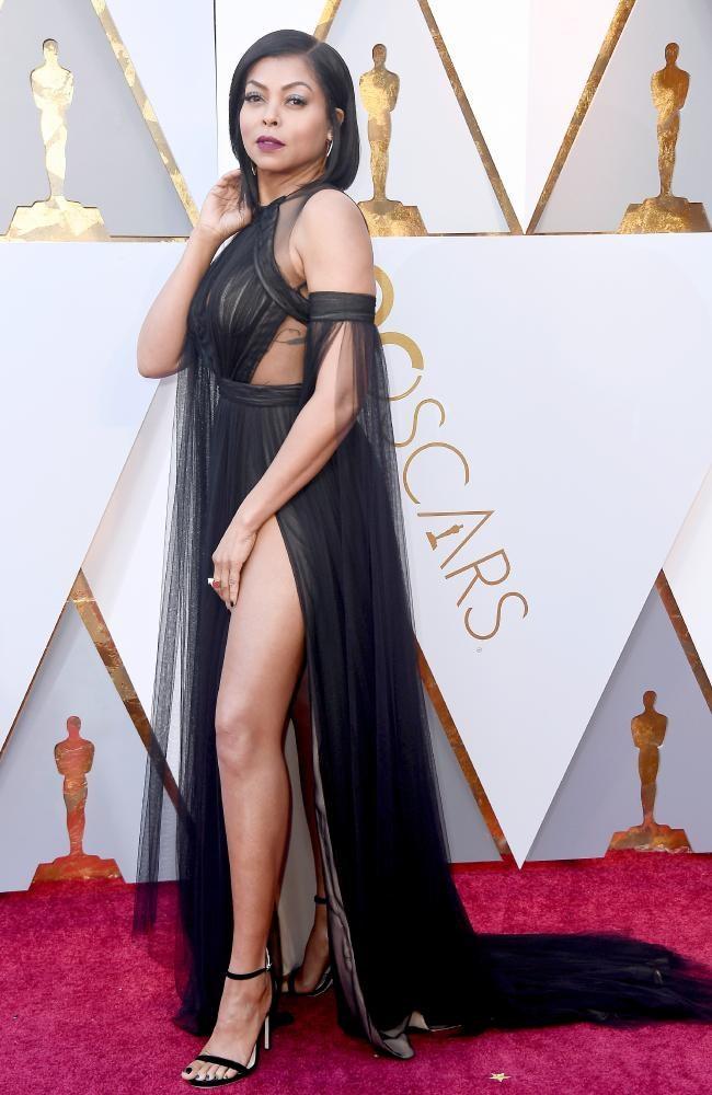 Taraji P. Henson's dress leaves little to the imagination.