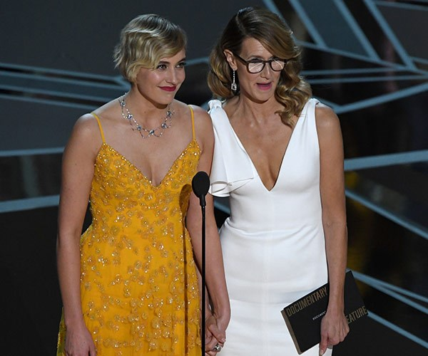 Greta Gerwig with Laura Dern.