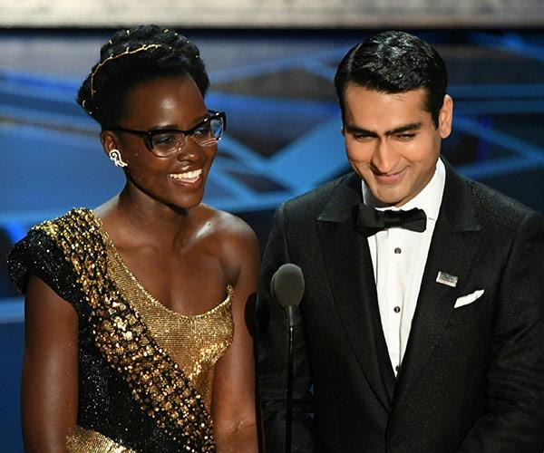 Kumail Nanjiani and Lupita Nyongo.