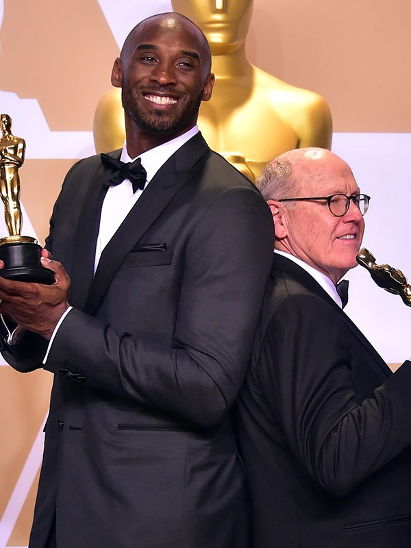 The tall and the short of it! Kobe Bryant and Glen Keane go back-to-back.