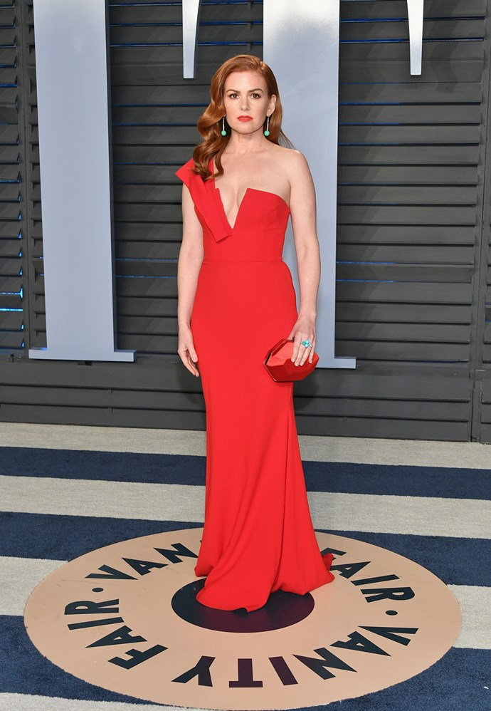 You're not seeing double, this isn't Amy Adams! It's our very own Isla Fisher - a standout in red!