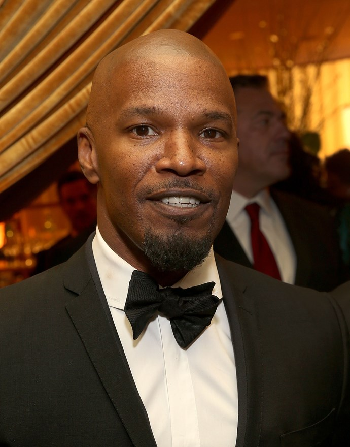 Jamie Foxx attends Byron Allen's Oscar Gala Viewing Party to Support The Children's Hospital in Los Angeles, sponsored by Heineken... but where is Katie?