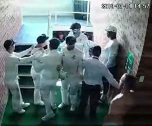 An image from the CCTV footage posted on Cricket Haven/Facebook