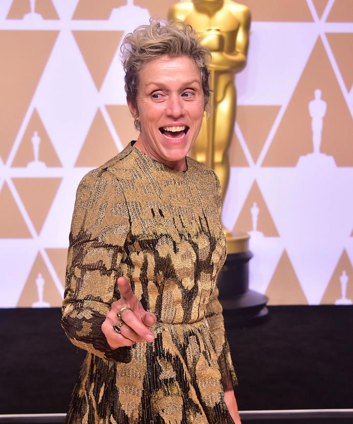 The Three Billboards Outside Ebbing, Missouri star won the award for Best Actress, beating out fellow nominees Sally Hawkins (The Shape of Water), Margot Robbie (I, Tonya), Saoirse Ronan (Lady Bird) and Meryl Streep (The Post).