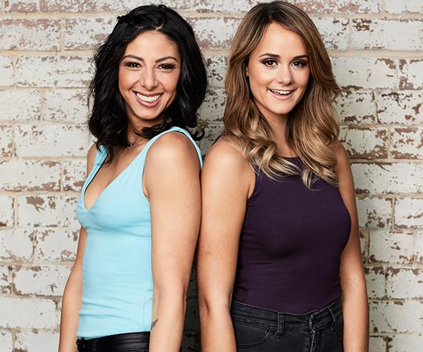 Roula (left) joined *MKR* with best friend and colleague, Rachael.
