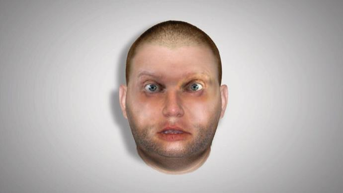"""A police sketch of Peter """"Thommo"""" Thompson."""
