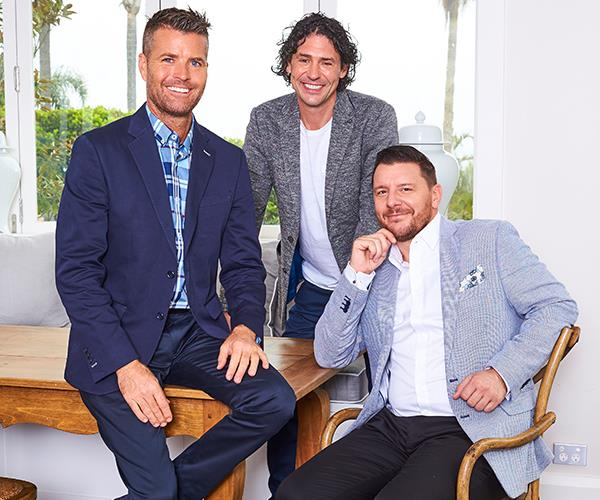 *MKR* judges and mates Pete, Colin and Manu.