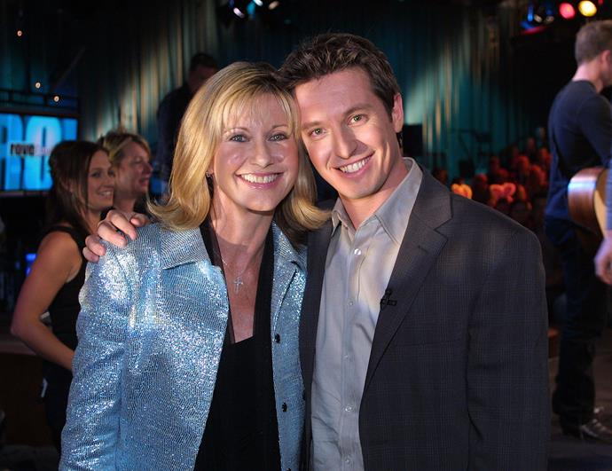 Rove and guest Olivia Newton-John, sat down for a chat in one of his shows.