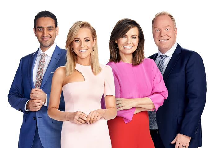 Rove's Project buddies, (from left) Waleed Ally, Carrie Bickmore, Lisa Wilkinson and Peter Helliar.