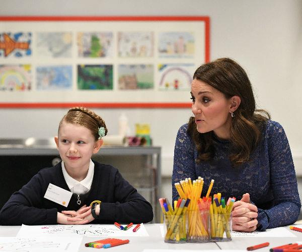 Kate, who is expecting her third child in just a matter of weeks, stepped out to officially open the new London headquarters for Place2Be, a children's mental health charity.